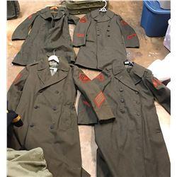 Lot 622 - Military Long Coats