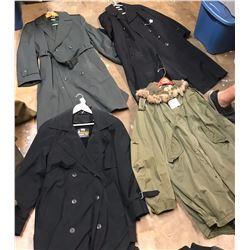 Lot 627 - Military Long Coats