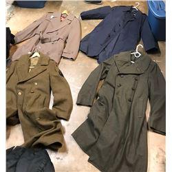 Lot 631 - Military Long Coats