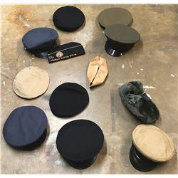Lot 639 - Military Officer Dress Hat Lot