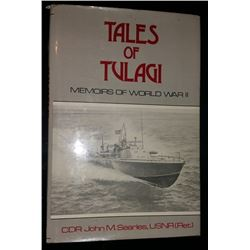 Lot 729 - Military TALES OF TULAGI Autographed by CDR. John Searles