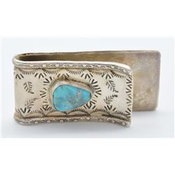 Lot 756 - Turquoise & Sterling Silver Money Clip