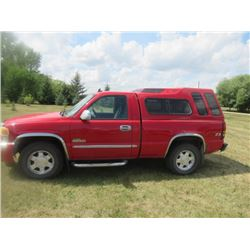 07 GMC Sierra 1500 SLE 4.8L A/T  4x4 Single Cab 4 x 4 Z71 Off Rd w Tow Package w Riser Colored Cap