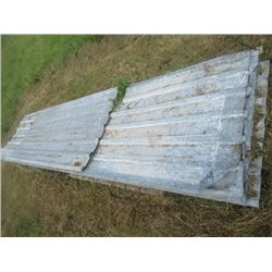 25 Sheets of Galvanized Tin 7' to 13' Long
