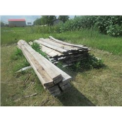"Lumber 13) Rough 2""x6"" x 13', Bundle of 1""x6"" x 8'"