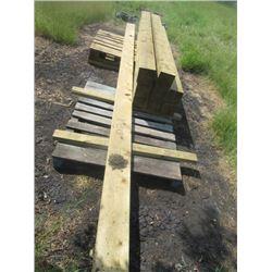 "Treated Lumber 8) 6""x6""x 8' 1) 2""x8"" x16'"