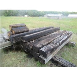 33 Items-14) Railway Ties 8) Treated Posts 4) Blocks) 7) 6' Treated Fence Posts