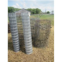 5 Rolls of Page or Stucco Wire- 4 Partial Rolls , 1 Full Roll - 4' to 5' H