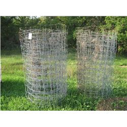 """8 Partial Rolls Page Wire 6) 30"""" H 2) 6' H"""