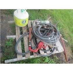 Fuel Hose, Barrel Pump, Nozzle, Propane Tank