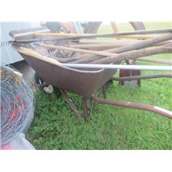 Rubber Tired Wheel Barrow, Rakes, Scuffler, Spades, & Shovels