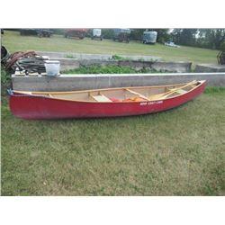 Nova Mdl Bo 15' 800LB Canoe w 2 Paddles & Life Jackets