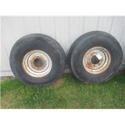 2 Tires & Rims 1000-16