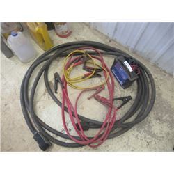 AC Delco Trickle Charger, 2 Sets Booster Cables & HD 240 Welder Extension Cord