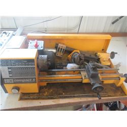 """Emco Compact 5 13"""" metal Lathe w Accessories"""