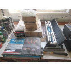 Slide Puller , 7 Pc Hand Autobody Repair Kit Fibreglass Compound