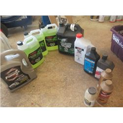 Antifreeze, OIls, Additives, Most New Some Partial, Windshield Fluid