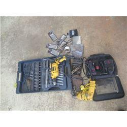 De Walt Hammer Drill, Bosch Cordless, De Walt Drill, & Drill Bits