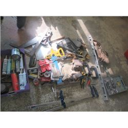 Levels, Hammers, Clamps, Drum Sander, Tape Measure, Square, Paint Brushes,  & Caulking