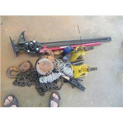 Jack All , 2 Ton Chain Hoist, Stabilizer Jacks, & Hyd Jacks