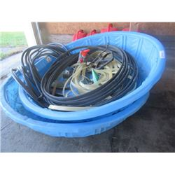 2 Toddler Swimming Pools, Garden Hose, & Sprinkler
