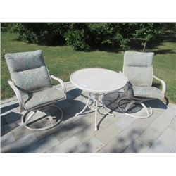 Bistro Set - Table w 2 Swivel Chairs