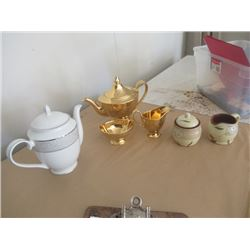 Royal Winton Teapot & Cream & Sugar, Mikage Teapot, Cream & Sugar