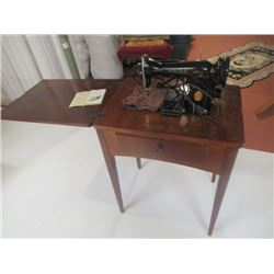 Singer Elec Cabinet Sewing Machine- Vintage