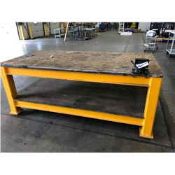 STEEL WORK TABLE WITH VISE