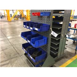 4 WHEEL PARTS CART WITH BINS