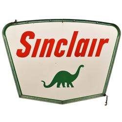 Sinclair Service Station Porcelain Sign With Frame