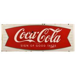 Coca-Cola Fishtail Large Porcelain Sign