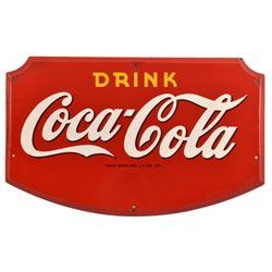 Drink Coca-Cola Shield 1942 Porcelain Sign