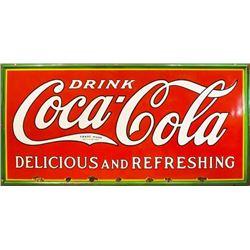 Coca-Cola 8 Ft Porcelain Sign
