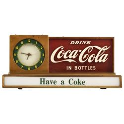 Coca-Cola Counter Top Light-Up Sign / Clock