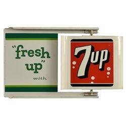 7-Up Spinner Tin Flange Sign