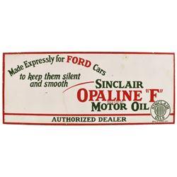 Sinclair Opaline Ford Motor Oil Porcelain Sign