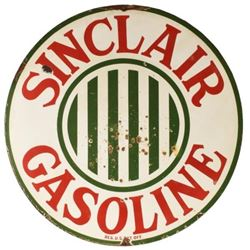 Sinclair Gasoline Early 4 Ft Round Porcelain Sign