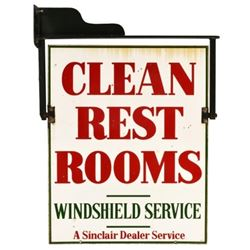 Sinclair Clean Restrooms Service Station Sign