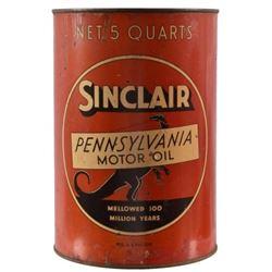 "Sinclair ""Standing Dinosaur"" 5 Quart Motor Oil Can"