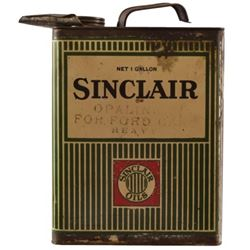 """Sinclair 1 Gallon Motor Oil Can """"For Ford Cars"""""""