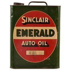 Sinclair Emerald 2 Gallon Auto Oil Can