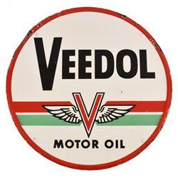 "Veedol Motor Oil 24"" Porcelain Sign"