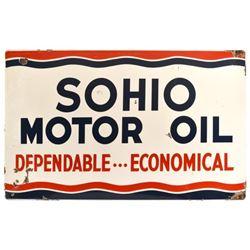Sohio Motor Oil Porcelain Sign
