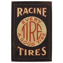 Racine Tires Litho Tin Sign