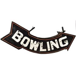 Bowling Alley Arrow Sign