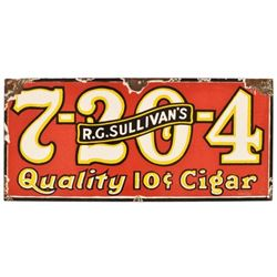 R.G. Sullivan's 7-20-4 Cigar Porcelain Sign