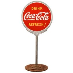 Coca-Cola Drink Fresh Lollipop Sign
