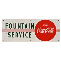 Coca-Cola Fountain Service Porcelain Sign