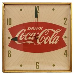 Coca-Cola Fishtail Light-Up Clock